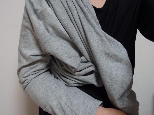 肩手が使えない時の洋服の着方