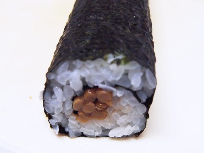 巻き寿司の完成