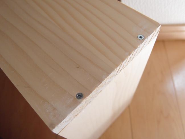 木枠の組み立て