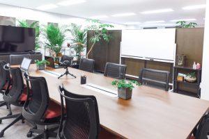 オフィスの観葉植物に溜まる埃