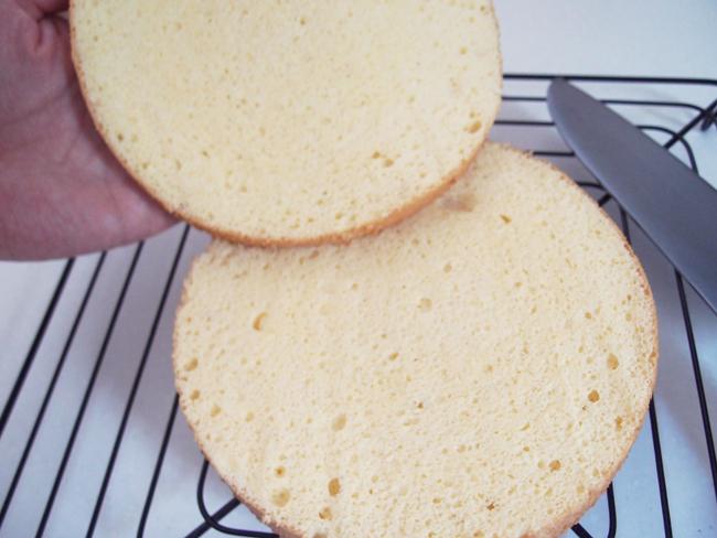 家庭で作る本格スポンジケーキ