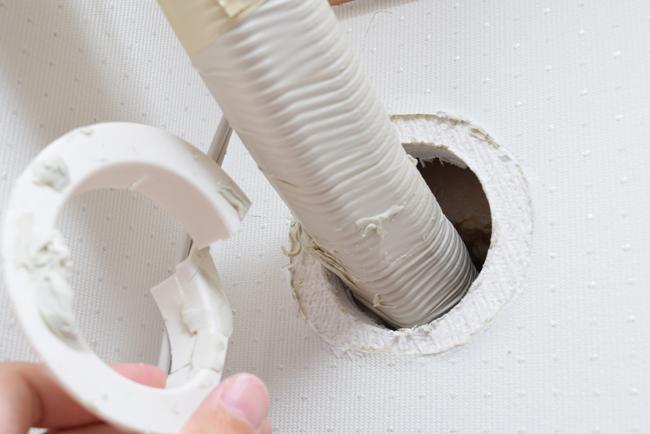 壁の粘土とキャップを外す