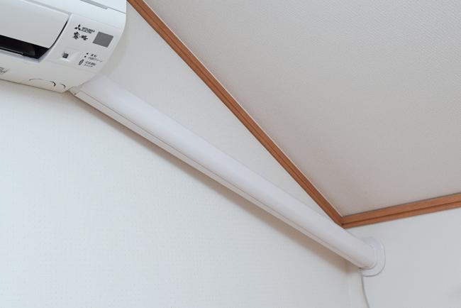 エアコンの化粧カバーの取り付け方法