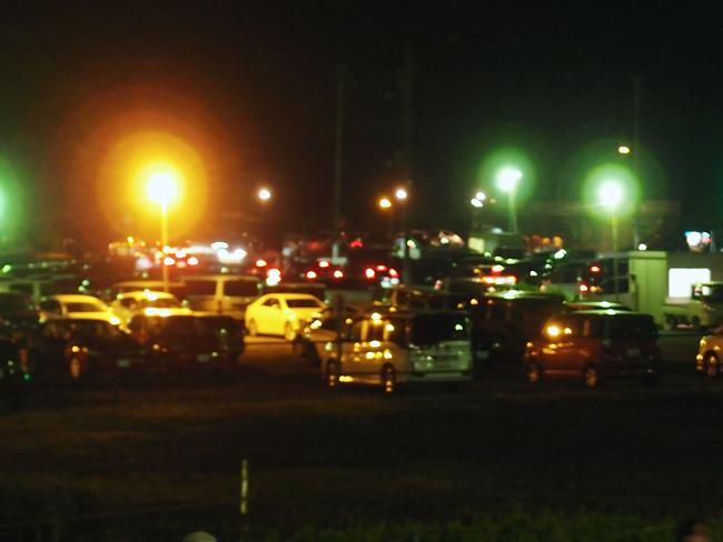 渋滞するカシマサッカースタジアム