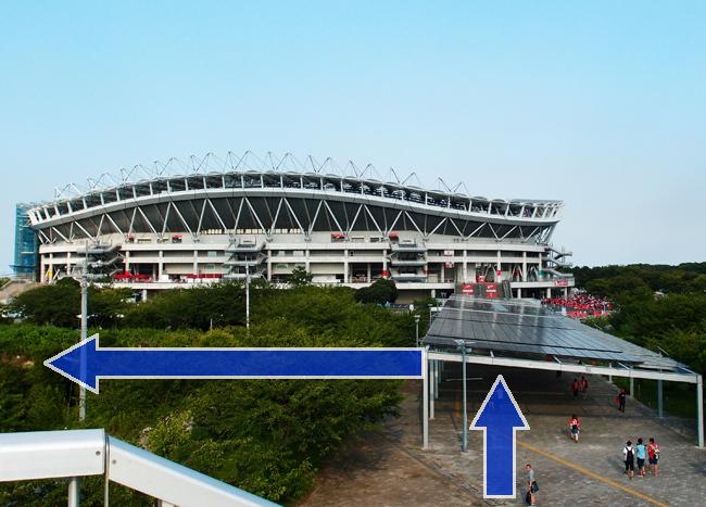 カシマサッカースタジアムビジターゲートへ