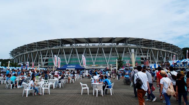 エコパスタジアムの広場