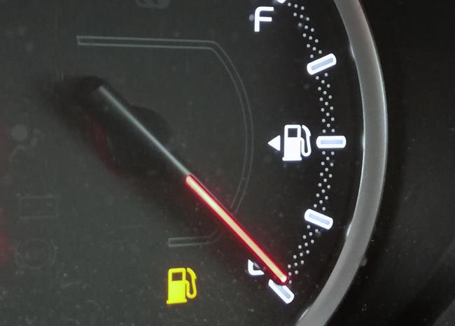 ガソリンを少なくしておく
